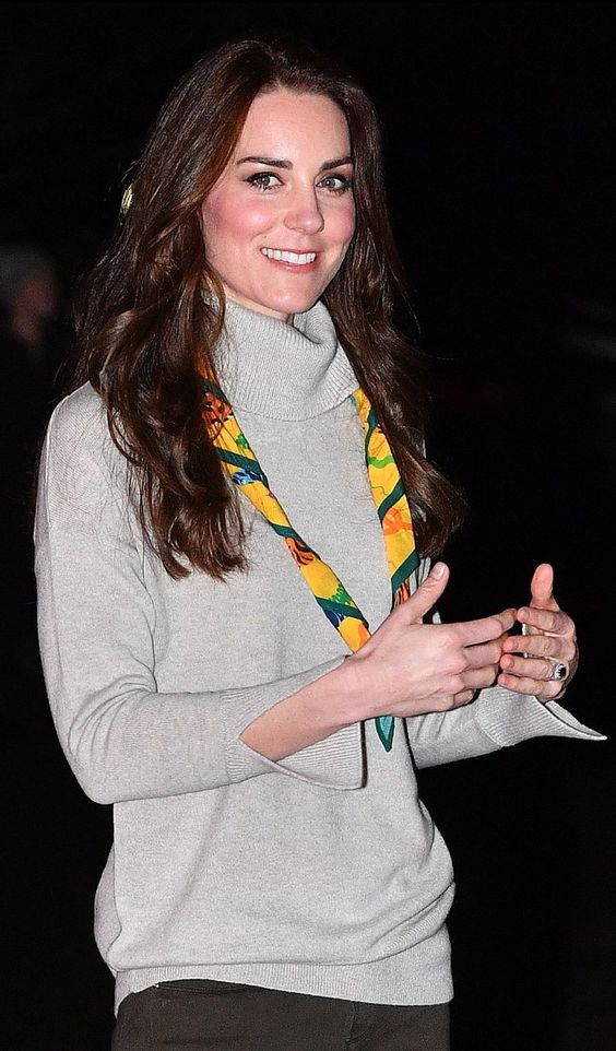 Kate Middleton's IRIS AND INK 'Grace' sweater has been reissued in Gray. Click to shop