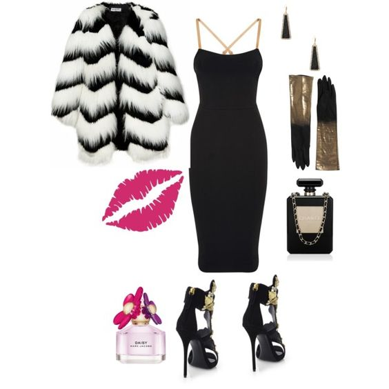 Hot Valentine Date Night by Deranged Diva. A fashion look from February 2015 featuring Victoria Beckham dresses, Ziggy coats and Giuseppe Zanotti sandals. Browse and shop related looks.