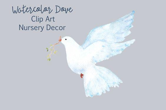 Watercolor Dove - Clip Art  - Objects