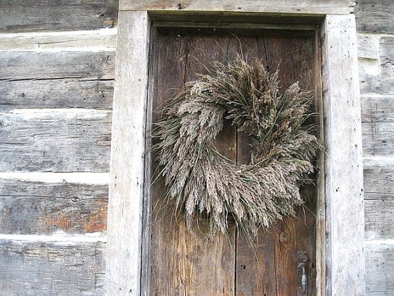 PLUME WREATH   all natural ornamental grass decoration  for door or wall