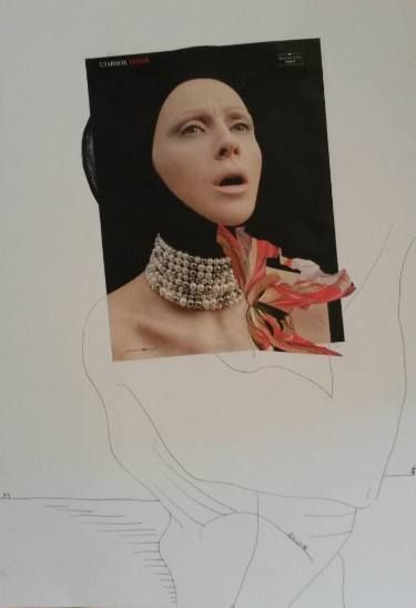 "Saatchi Art Artist Leni Smoragdova; Collage, ""dfspsperjpi"" #art"