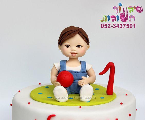 baby boy cake close up by cakes-mania עוגת תינוק תקריב מאת שיגעון העוגות - www.cakes-mania.com