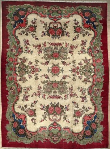 SEMI-ANTIQUE PERSIAN KASHAN AREA RUG 35953 - AREA RUG This beautiful Handmade Knotted Rectangular rug is approximately 10 x 14 Semi-antique area rug from our large collection of handmade area rugs with Persian Kashan style from Iran/Persia with Wool