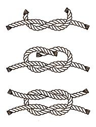 how to draw a knot in a rope