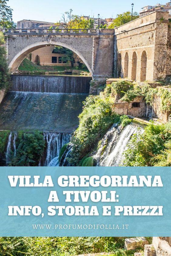 Villa Gregoriana Tivoli, immagine Pinterest