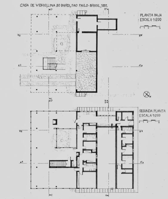 Floors House Of Glass By Lina Bo Bardi S 227 O Paulo 1949