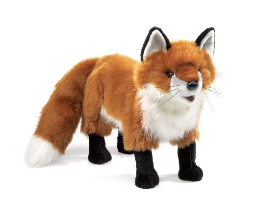Amazon.com : Folkmanis Standing Red Fox Puppet : Plush Puppets : Toys & Games
