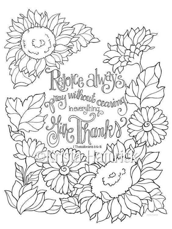 rejoice coloring pages - photo#4