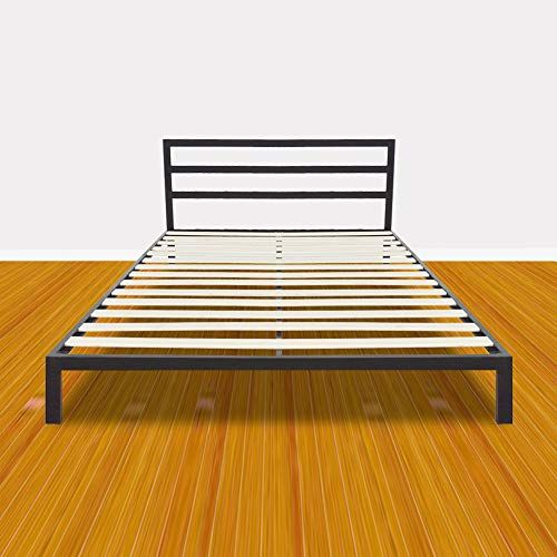 Bonnlo Sturdy Bed Frame Queen Size Easy Set Up Premium Metal