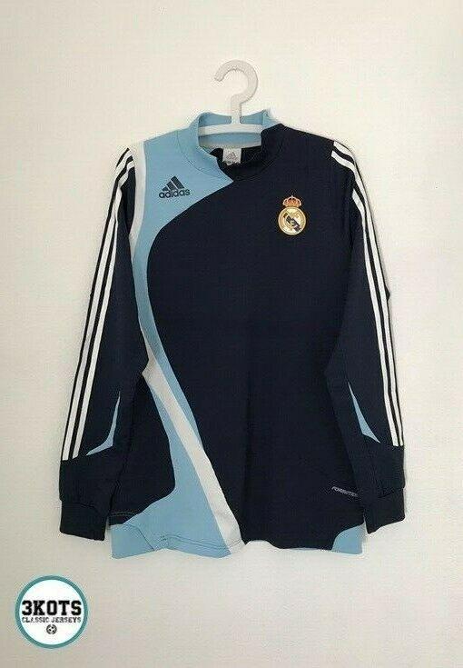 Real Madrid 2007 08 Training Football Sweatshirt L Mens Vintage Soccer Jersey Adidas Realmadrid In 2020 Vintage Football Shirts Football Sweatshirt Soccer Shirts