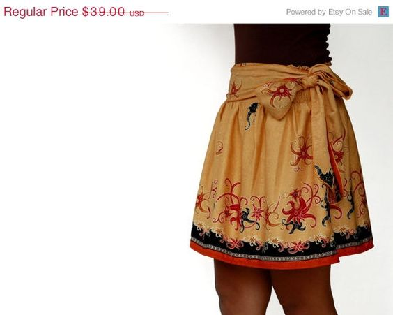 ON SALE Spring summer fashion bright orange floral by LoNaDesign, $35.10