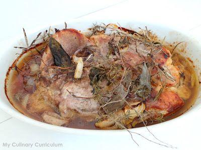 My Culinary Curriculum: Rouelle de porc au thym, romarin, sauge et miel (R...
