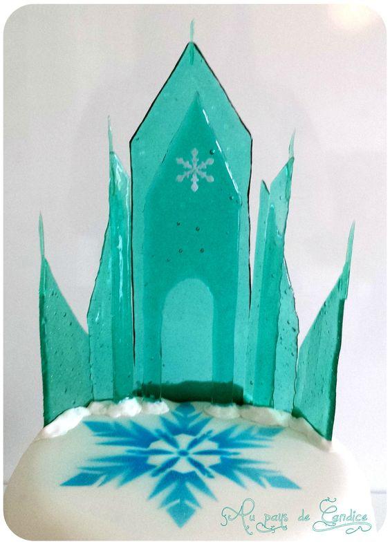 Tutoriel du ch teau de la reine des neiges en caramel ou - Chateau elsa reine des neiges ...