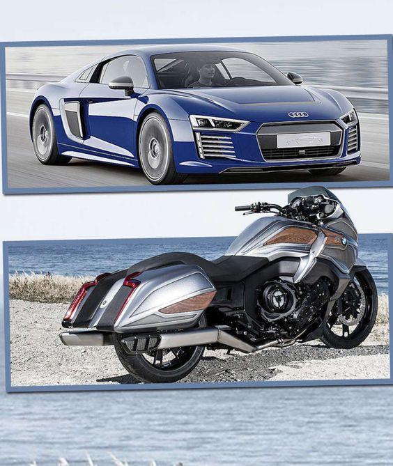 AUDI R8 E-TRON UND DER BMW CONCEPT 101 Mit Vollgas in die Zukunft