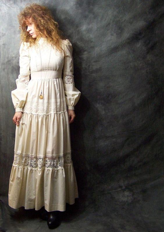 Vintage 70s Jessica McClintock Gunne Sax Daisy Lace Romantic ...