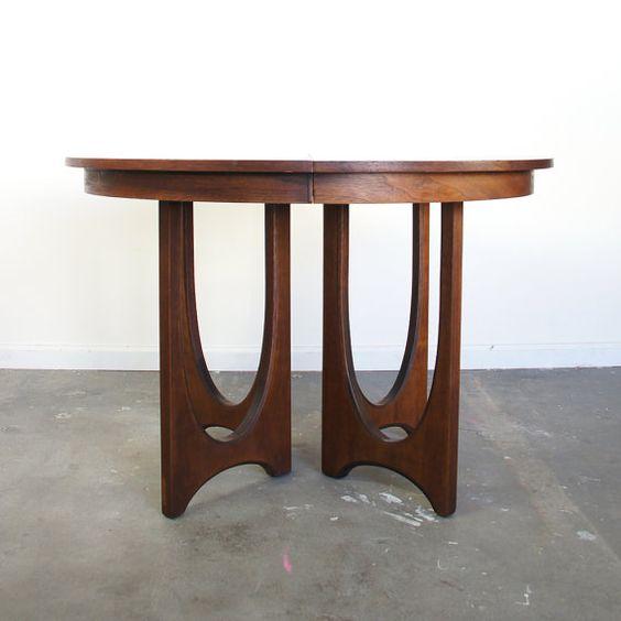 Vintage Mid Century Coffee Table Hawaiian Koa Wood By: Mid Century Dining Table / Broyhill Brasilia / Round