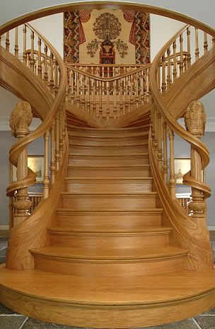 art nouveau staircase gorgeous interior pinterest beautiful escaliers de bois et sculpture. Black Bedroom Furniture Sets. Home Design Ideas