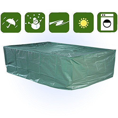 Square Patio Table Cover Waterproof Patio Furniture Cover Heavy Duty Table  Cover #SquarePatioTableCover