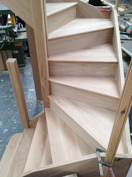 Details About Solid Oak Staircase 2 Turn Winder Stairs