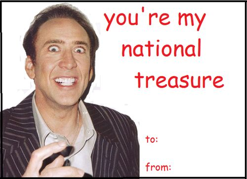 nicolas cage valentines day card geeky valentines day cards pinterest humor hilarious and laughter - Geeky Valentines Cards