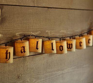 Happy Halloween String Lights #potterybarn