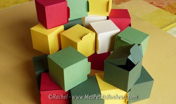 calendrier de l 39 avent fait main 24 boites en papier. Black Bedroom Furniture Sets. Home Design Ideas