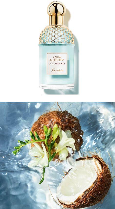 Coconut Fizz ist ein exotisches und leuchtendes Eau de Toilette und lädt Sie zu einem kühlen Kokoswasser in einem tropischen Garten unter einer Kokospalme ein. Duftnoten: Bergamotte, Sandelholz, Tonkabohne, Kokoswasser, Früchte, Freesie... *Pin enthält Werbelinks