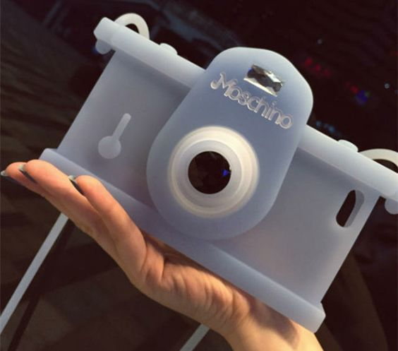 Moschino Camera Silicone Case for Iphone 6 Plus Iphone 6 4.7/5/5S with Shoulder Strap