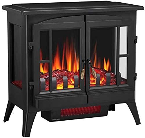 New Joy Pebble New Compact Electric Fireplace Heater Freestanding Stove Heater Realistic Flame Etl Certified Overheating Protection Small Spaces Heater In 2020 Electric Fireplace Old Fireplace Fireplace Heater
