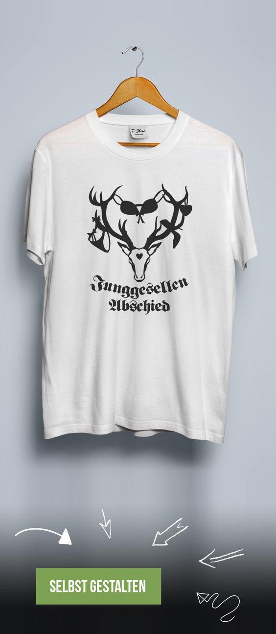 T-Shirt zum Junggesellenabschied mit Party-Geweih. Jetzt bedrucken lassen.