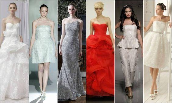 As colecções de vestidos de noiva 2013 incluem modelos de todas as cores e formas com decote cai-cai.