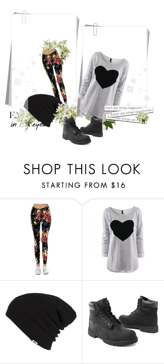 """""""Untitled #2"""" by sapphirejones ❤ liked on Polyvore featuring Just One, Vans, Timberland, women's clothing, women's fashion, women, female, woman, misses and juniors"""