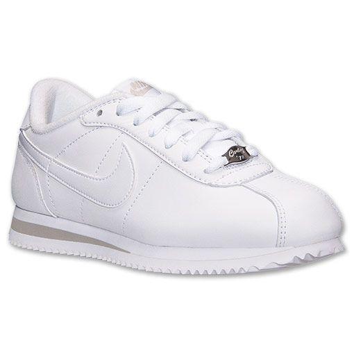 Women's Nike Cortez Basic Leather Casual Shoes - 317266 111 | Finish Line |  White/Grey | Love These Kicks! | Pinterest | Nike cortez, Casual shoes and  Nike ...