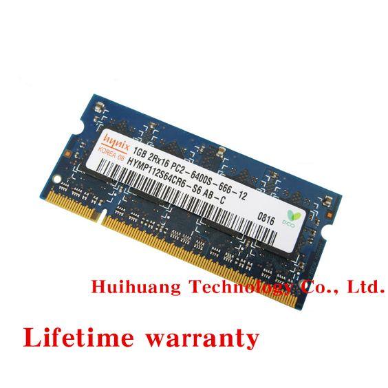 Пожизненная гарантия для hynix DDR2 1 ГБ 800 мГц PC2-6400S оригинальной аутентичной DDR 2 1 г портативный ноутбук памяти RAM 200PIN SODIMM