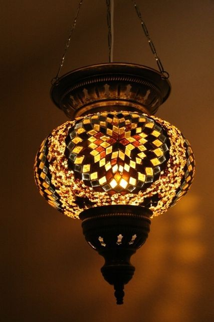Hanging Lamp Shade: EXTRA LARGE TURKISH MOROCCAN MOSAIC HANGING LAMP PENDANT LANTERN LAMPSHADE,Lighting