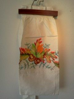Vintage Autumn Apron Thanksgiving by WeeLambieVintage on Etsy, $10.00
