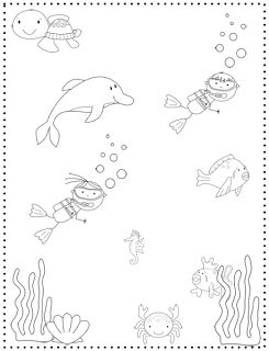 Crazy Speech World: Some Thoughts & Ocean Animals {Freebie!} -great coloring page