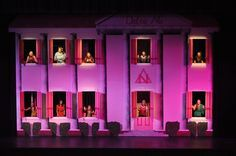 For their production of Legally Blonde: The Musical, the Brighton Center for the Performing Arts was determined to re-create the two-story sorority house from the Broadway production.