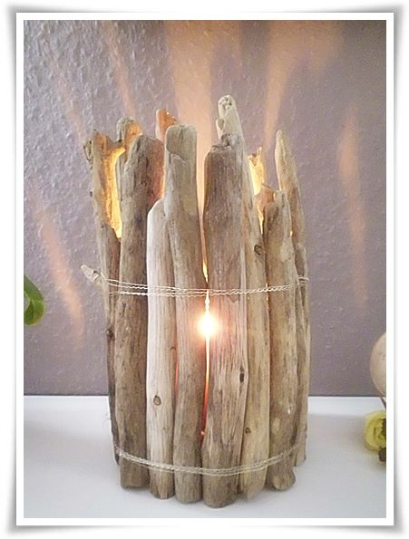 10 min diy windlicht treibholz oder kirschen und selber machen. Black Bedroom Furniture Sets. Home Design Ideas