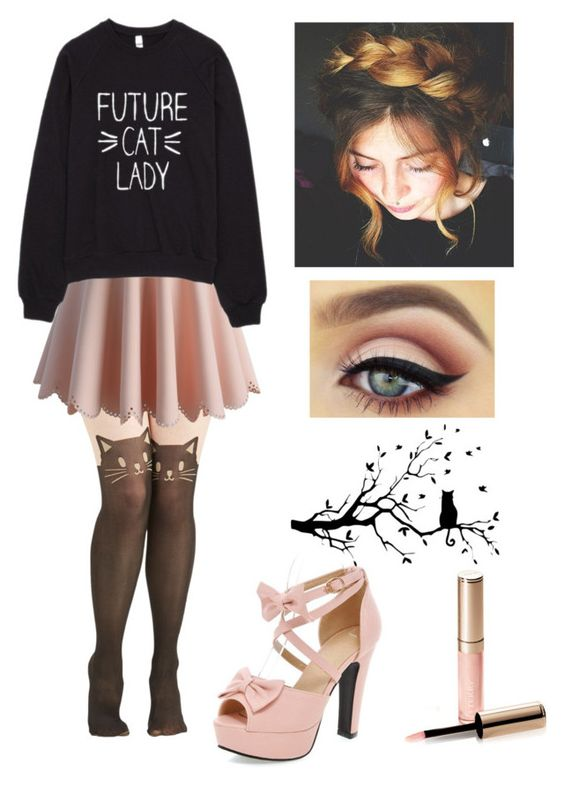 """""""Cat Lover"""" by sav16 ❤ liked on Polyvore featuring Chicwish, By Terry and cats"""