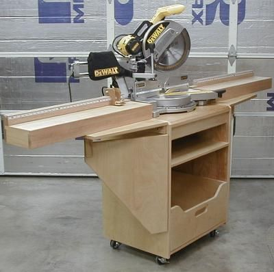 Miter Saw Station, front left view with wings extended
