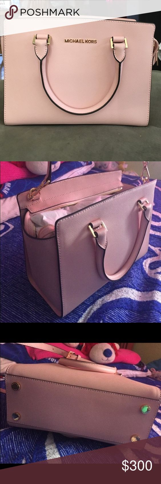 Michael Kors Md Tz Satchel Pastel Pink Leather Used 3 Times For A