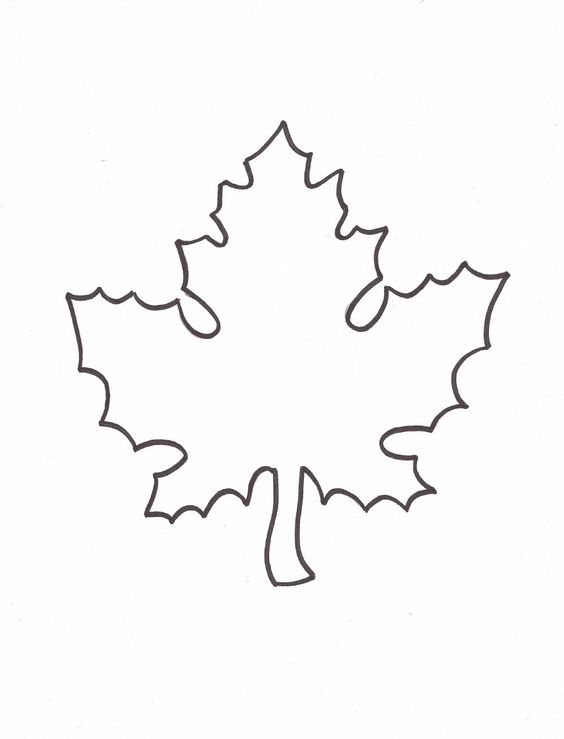 Leaf Template to use for Giving Thanks writing activity to hang - leaf template for writing