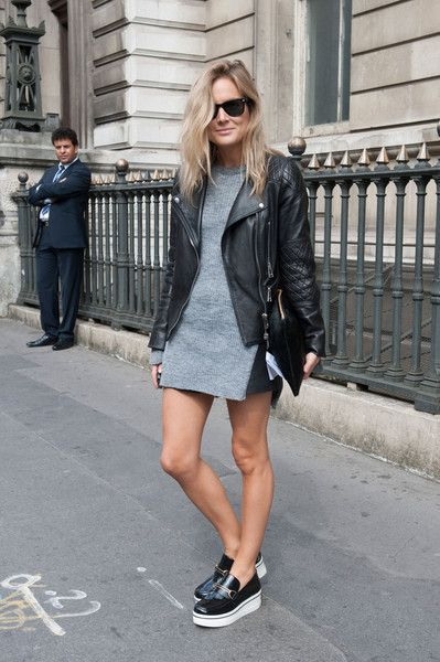 Mini skirt Stella McCartney platform oxfords