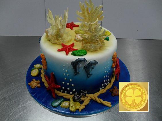 торт с целью моряка рыбака