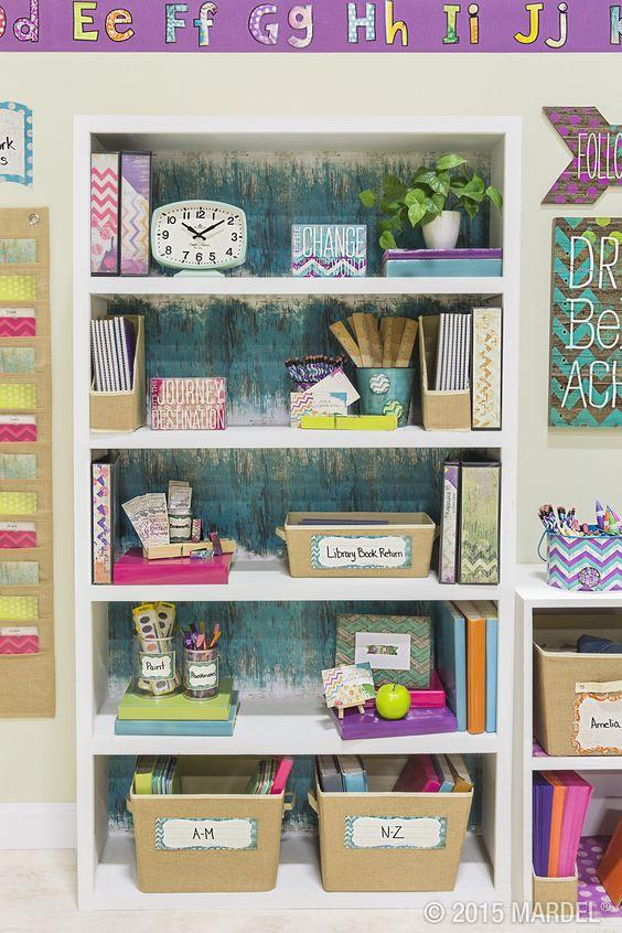Retro Classroom Decor : Retro chic classroom décor inspired by the sweet shades