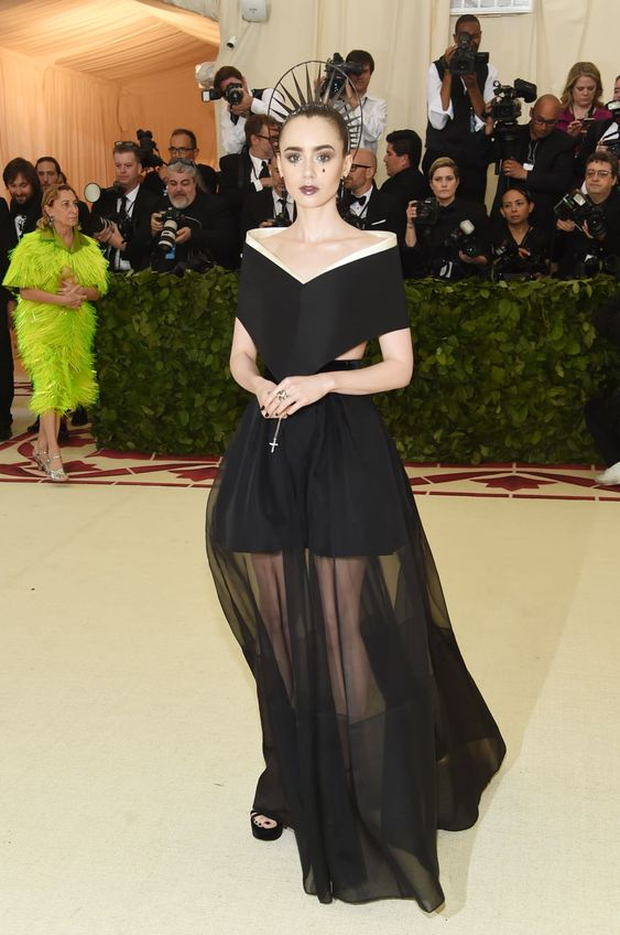 Lily Collins at 2018 Met Gala
