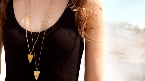 {Gold Stone Triangle Necklace} simple. sophisticated.