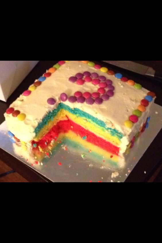 Sohana's Rainbow Cake Cut