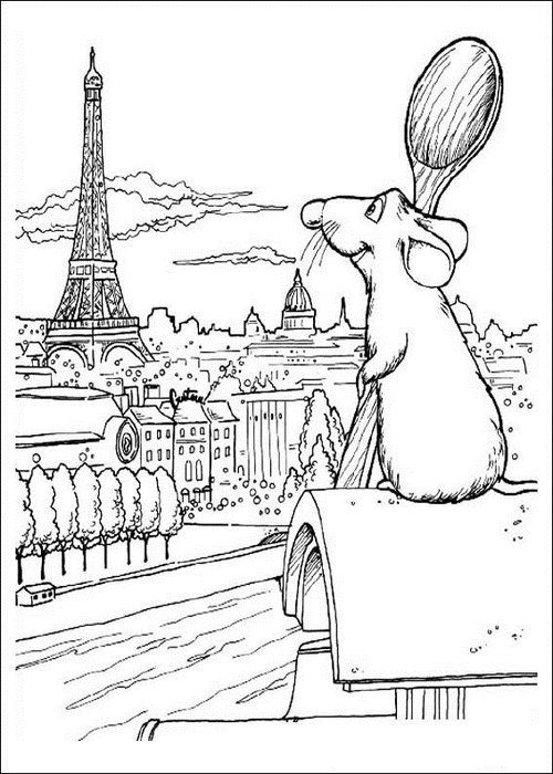 Free Coloring Pages For Kids Ratatouille Coloring Pages For Kids Coloring Pages Disney Coloring Pages Disney Sketches